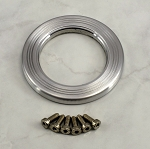 Nardi Horn Button Trim Ring - Satin Aluminum - Part # 4041.21.0931