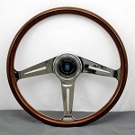 Nardi Steering Wheel - Classic Wood - 367mm (14.45 inches) - Mahogany Wood - Polished