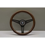 Nardi Steering Wheel - Classic Wood - 340mm (13.39 inches) - Mahogany Wood with Black Spokes - Part # 5061.34.2000