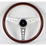 Nardi Steering Wheel - Classic - 360 mm - Wood - Satin Spokes