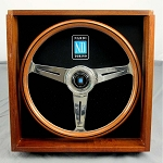 Nardi Steering Wheel - Classic - 360 mm (14.17 inches) - Mahogany Wood with Polished Spokes in Wooden Display Box - Part # 5201.36.3700