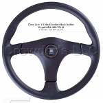 Nardi Steering Wheel - Gara 3/3 - 365mm (14.37 inches) - Black Leather with Black Leather Center Pad - KBA/ABE 70138 - Part # 6071.36.2171
