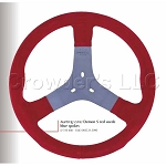 Personal Steering Wheel - Demon S 'Karting' - 310 mm Red Suede
