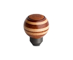 MOMO Heritage Wood + Leather Targa Shift Shifter Knob - Round Ball Part # TARMAG