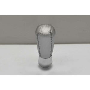 Nardi Personal Gear Shift Knob - Drop - Silver Leather - Part # 3182.13.0000