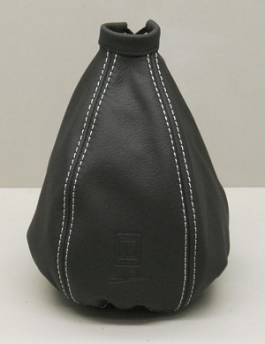 Nardi Shift Boot - Black Leather with Silver Stitching - Nardi Logo - Part # 3600.01.0000