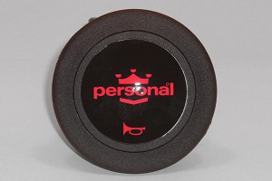 Personal Horn Button - Black with Red Logo - 2 Contact