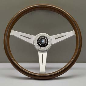 Nardi Steering Wheel - Classic Wood - 360mm (14.17 inches) - Mahogany Wood with Satin Spokes - KBA/ABE 70083 - Part # 5051.36.6304