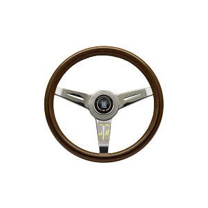 Nardi Steering Wheel - Classic Wood - 340mm (13.39 inches) - Mahogany Wood with Polished Spokes - Part # 5061.34.3000