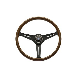 Nardi Steering Wheel - Classic Wood - 360mm (14.17 inches) - Mahogany Wood with Black Spokes - Part # 5061.36.2000