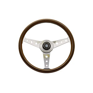 Nardi Steering Wheel - Classic - 360 mm - Wood - Polished Spokes with Holes