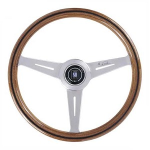 Nardi Steering Wheel Classic Wood/Polished 390 mm New