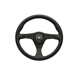 Nardi Steering Wheel - Gara 3/0 - 350mm (13.78 inches) - Black Leather with Black Stitching - Black Spokes - Part # 6020.35.2071