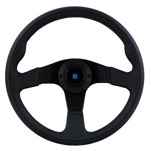 Nardi Twin Line Steering Wheel - 350mm - Black / Black