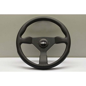 Personal 350 mm Grinta Steering Wheel Black Leather w/ Black Stitching - Part # 6430.35.2071