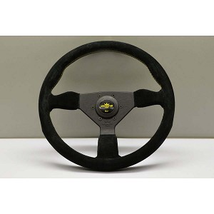 Personal Steering Wheel - Grinta - 350 mm Black Suede with Yellow Stitching