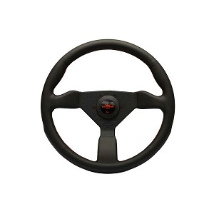 Personal Steering Wheel - Neo Grinta - 350 mm Black Leather with Red Logo
