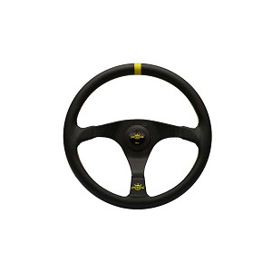 Personal Steering Wheel - Trophy - 350 mm Black Leather/Yellow Stripe