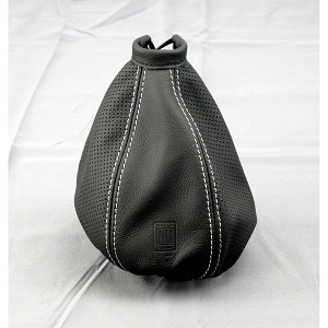 Nardi Shift Boot - Black Smooth Leather & Black Perforated Leather with Silver Stitching - Nardi Logo - Part # 3600.02.0000