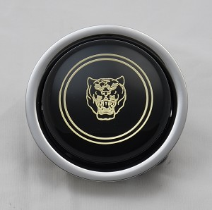 Nardi Single Contact Horn Button - Black with Jaguar Logo - Part # 4041.01.0209