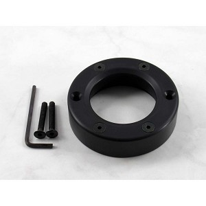 Nardi Black Steering Wheel Horn Button Trim Ring with Screws at Sight for ND2000 / Gara - Part # 4041.18.0617