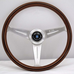 Nardi Steering Wheel - Classic - 390mm (15.35 inches) - Mahogany Wood with Satin Spokes - Part # 5051.39.6300