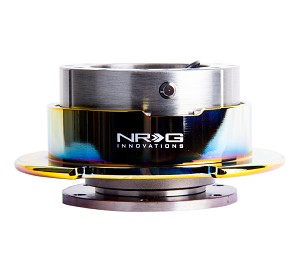 NRG Gen 2.5 Quick Release Kit - Gun Metal Body / Neochrome Ring with Paddles - Part # SRK-250GM/MC