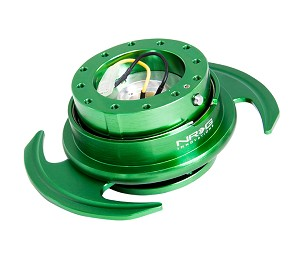 NRG Gen 3.0 Quick Release Kit - Green Body / Green Ring with Paddles - Part # SRK-650GN