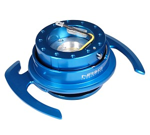 NRG Gen 4.0 Quick Release Kit - Blue Body / Blue Ring with Paddles - Part # SRK-700BL