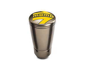 MOMO SK50 Glossy Anthracite Aluminum Gear Shift Shifter Knob w/ Logo - Part # SKFANT