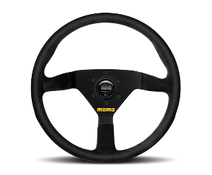 MOMO Track Steering Wheel - MOD.78 - 320mm Black Suede with Brushed Black spokes - Part # R1909/33S