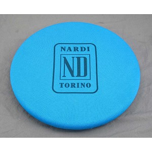 Nardi Blue Fabric Steering Wheel Cover with Nardi ND Torino Logo - Fits 330mm to 420mm Steering Wheels - Part # 0334.00.0006
