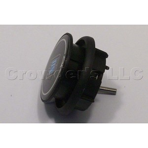 Nardi Single Contact Black Horn Button - C 515 ND - Type C - Part # 4041.01.0110