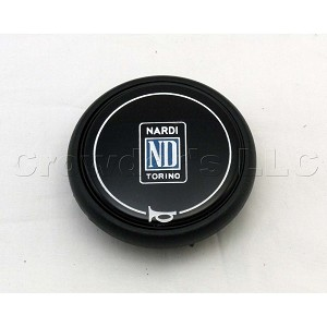 Nardi Horn Button - Type A - Black with Nardi Logo - Double Contact - Part # 4041.01.0111