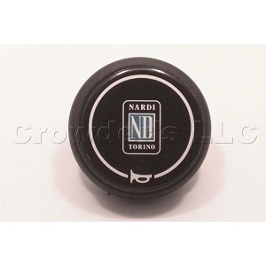 Nardi Double Contact Black Horn Button - C 515 ND - Type C - Part # 4041.01.0113