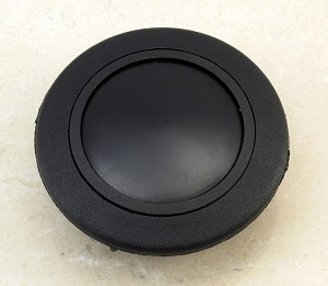 Personal Steering Wheel Single Contact Horn Button - Black (No Logo) - Part # 4841.02.0100
